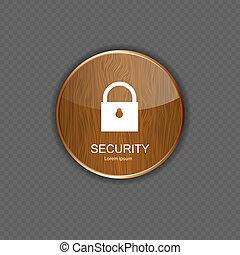 domanda, sicurezza, legno, icone