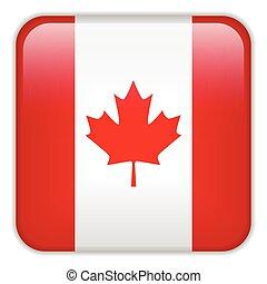 domanda, smartphone, bandiera canada