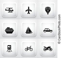 domanda, squadra triangolo, navigazione, buttons: