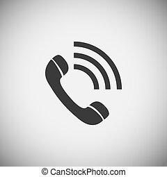 domanda, telefono, legno, icone