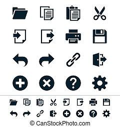 domanda, toolbar, icone