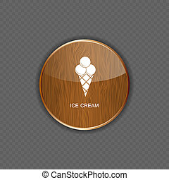 domanda, vettore, crema, ghiaccio, icone
