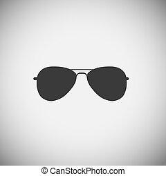 domanda, vettore, occhiali, illustrazione, icone