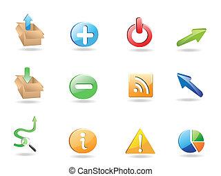 domanda, web, set, icona, 3d