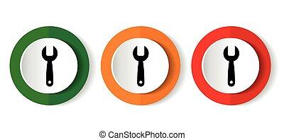 domande, fondo, telefono, bianco, mobile, icona, disegno, attrezzo, bottoni, vettore, set, strappare, appartamento, webdesign