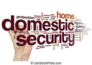 domestico, sicurezza, parola, nuvola