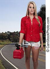 donna, benzina può
