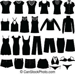 donna, camicia, stoffa, indossare, femmina, ragazza