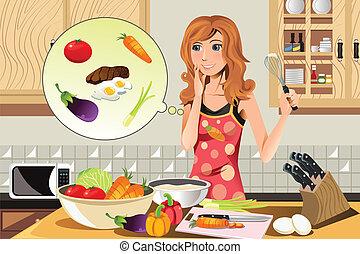 donna, cottura