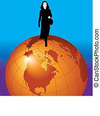 donna d'affari, mondo