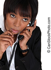 donna d'affari, telefono