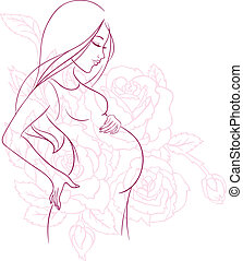 donna, incinta