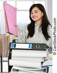 donna, lavoro ufficio