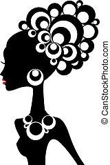 donna nera, vettore