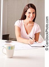 donna, riunione, affari