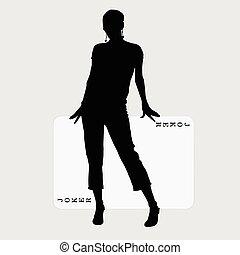 donna, scheda, illustrazione
