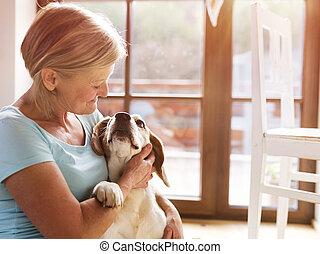 donna senior, cane