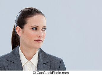 donna, spento, affari, bello