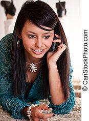 donna telefono, cellula