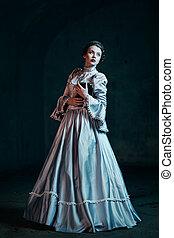 donna victorian, vestire
