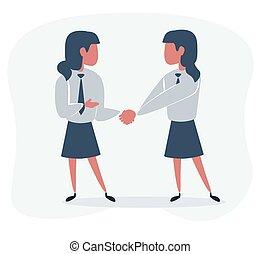 donne affari, tremante, due