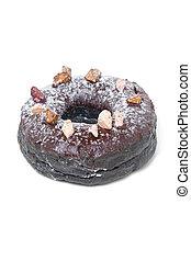 donut, cioccolato, isolato, white.