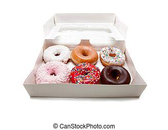 donuts, bianco, assortito