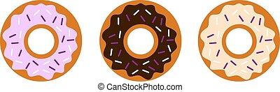 donuts, vettore, saporito