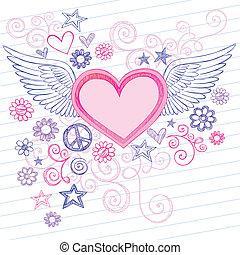 doodles, ali angelo, cuore