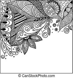 doodles, astratto, vettore