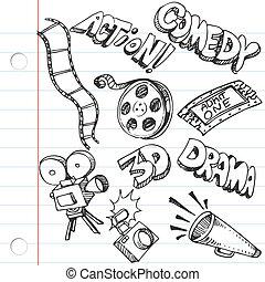 doodles, carta, quaderno, intrattenimento
