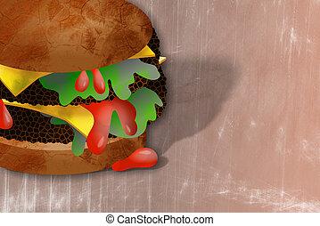 doppio, cheeseburger