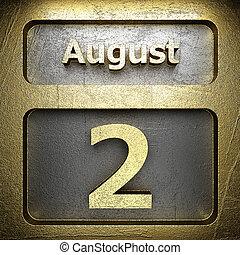 dorato, 2, agosto, segno