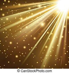 dorato, astratto, baluginante, luce