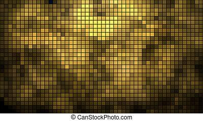 dorato, astratto, fondo., vettore, orizzontale, mosaico