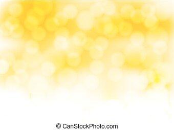 dorato, astratto, illustrazione, effects., luci, vettore, fornire sfondo annebbiato