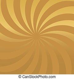 dorato, background-, radiale, illustrazione, vettore, lusso