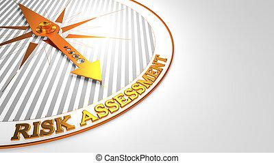 dorato, bianco, valutazione, rischio, compass.