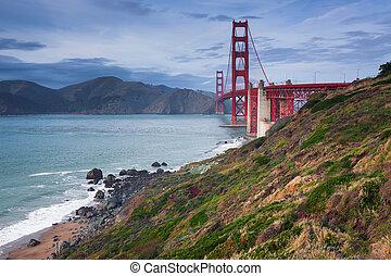 dorato, bridge., cancello