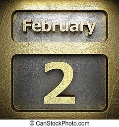 dorato, febbraio, 2, segno