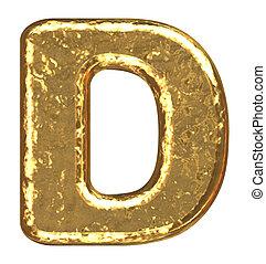 dorato, font., d, lettera, capitale