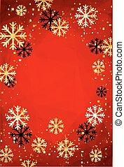 dorato, illustration., snowflakes., astratto, moderno, editable, fondo, template., vettore, facile, anno, nuovo, o, natale