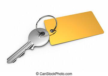 dorato, keyring, chiave