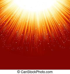 dorato, light., eps, discendere, stelle, percorso, 8