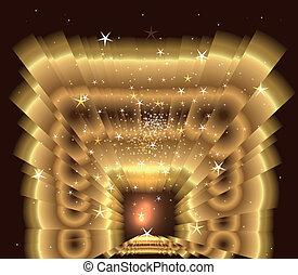 dorato, luce, scoppio stella