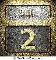dorato, luglio, 2, segno