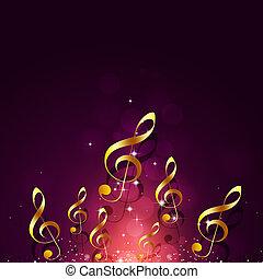dorato, luminoso, note musica
