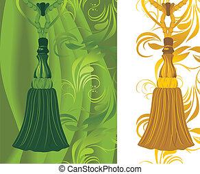 dorato, nappa, verde