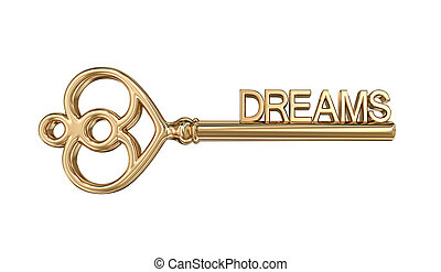 dorato, ritaglio, fare un sogno, chiave, included, percorso