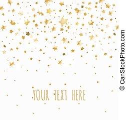 dorato, sfondo bianco, stelle